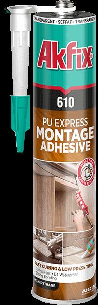 610 PU Express Montage Adhesive (Transparent)